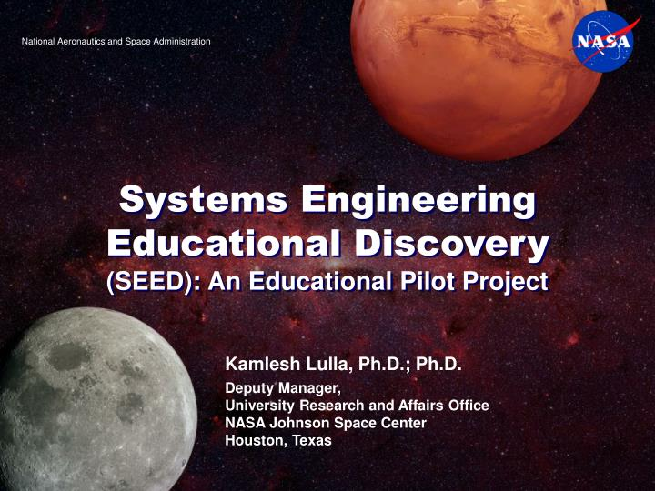 systems engineering educational discovery seed an educational pilot project