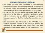 communication implications