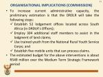 organisational implications commission