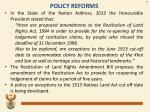 policy reforms