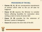 provisions of the bill2