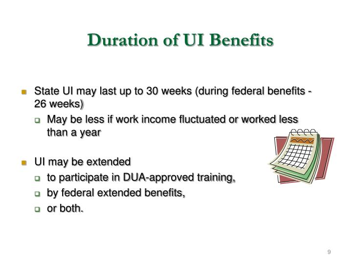 Duration of UI Benefits