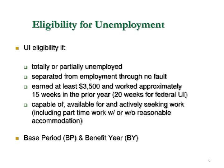 Eligibility for Unemployment
