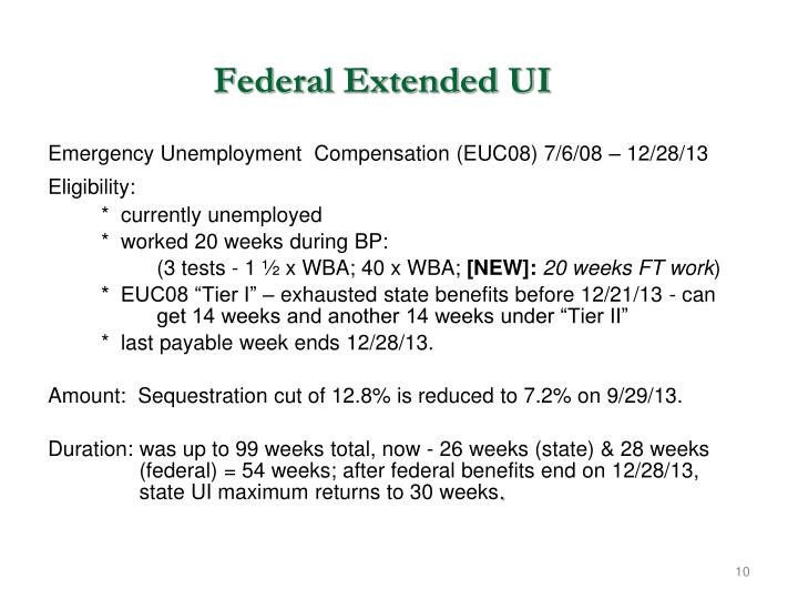 Federal Extended UI