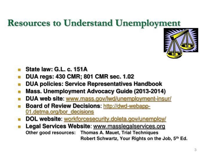 Resources to Understand Unemployment