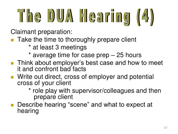 The DUA Hearing (4)