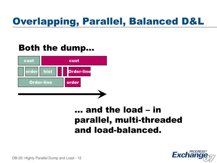 Overlapping, Parallel, Balanced D&L