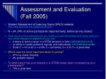 assessment and evaluation fall 2005