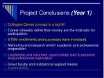 project conclusions year 1