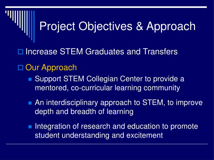 Project Objectives & Approach