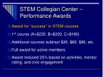 stem collegian center performance awards