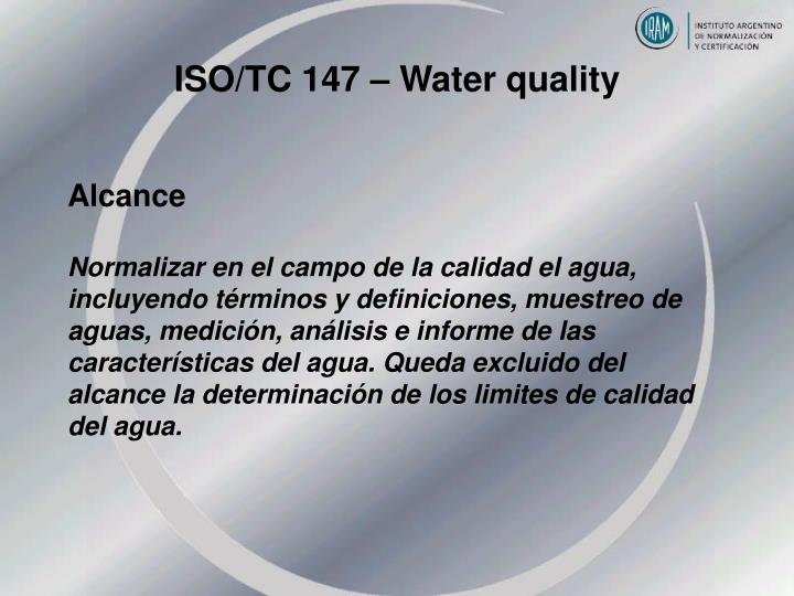ISO/TC 147 – Water quality