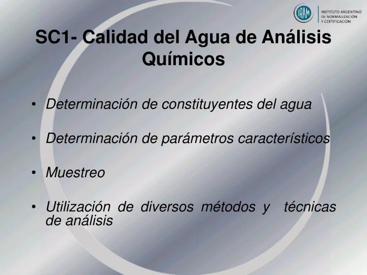 SC1- Calidad del Agua de Análisis Químicos
