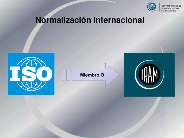 Normalización internacional