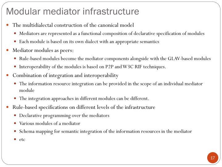 Modular mediator infrastructure
