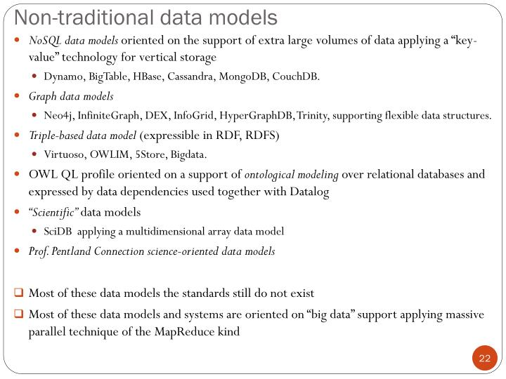 Non-traditional data models