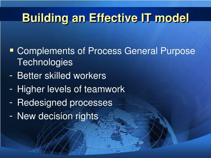 Building an Effective IT model