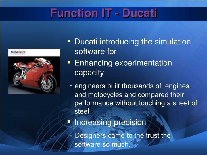 Function IT - Ducati