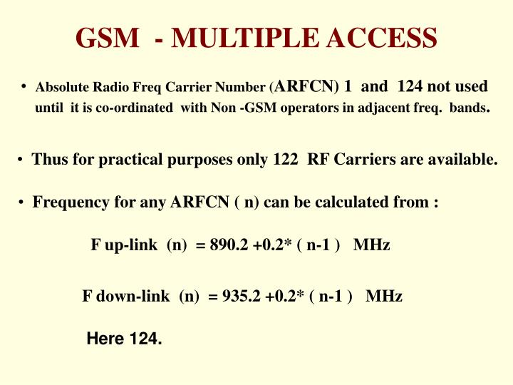 Absolute Radio Freq Carrier Number (
