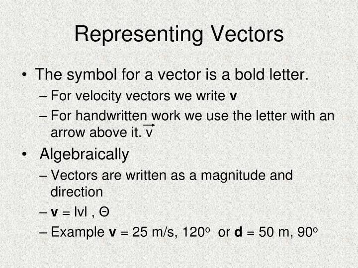Representing Vectors
