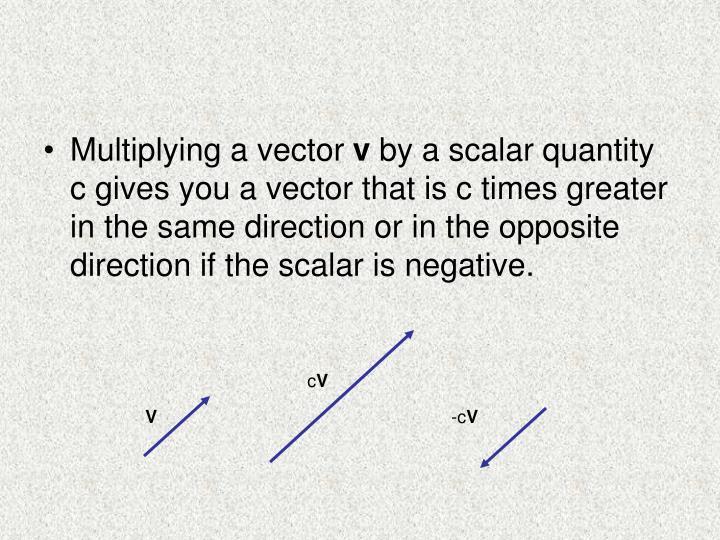Multiplying a vector