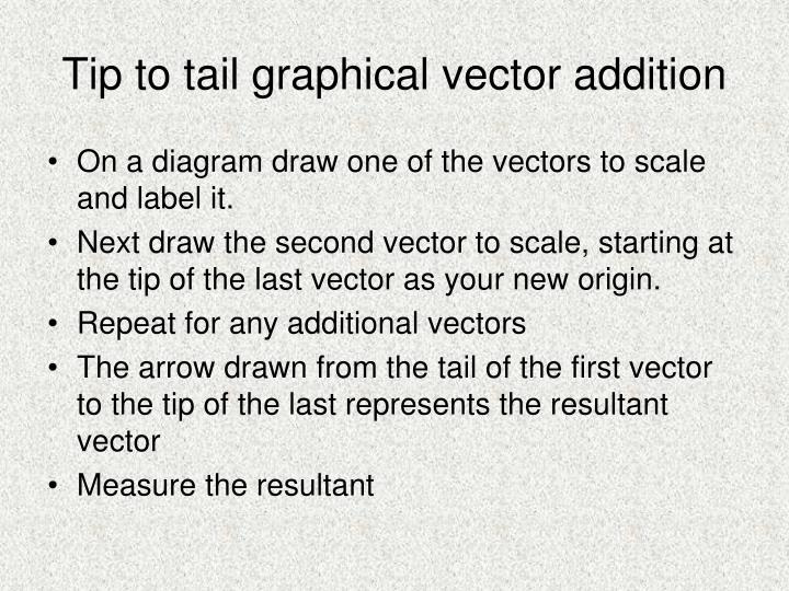 Tip to tail graphical vector addition