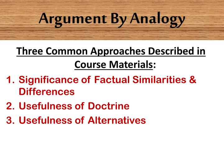 Argument By Analogy