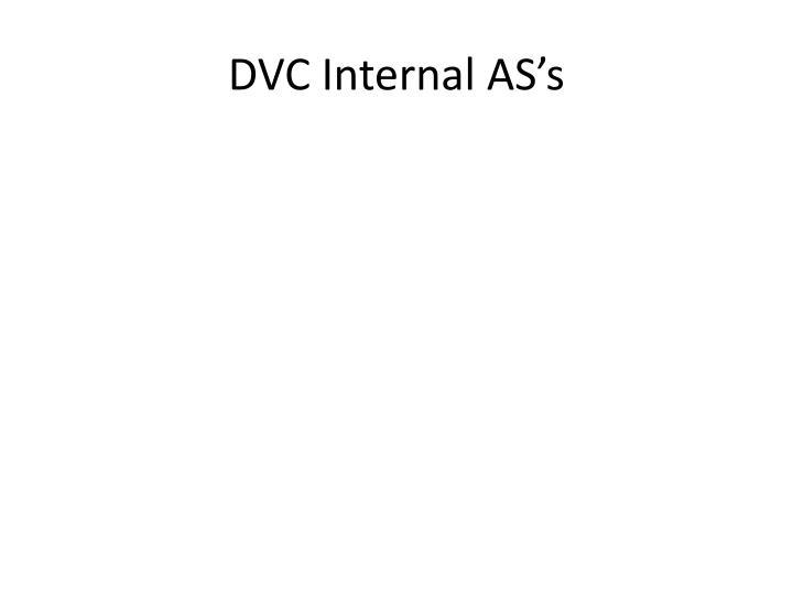 DVC Internal AS's