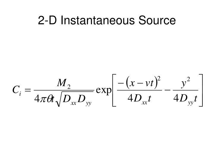 2-D Instantaneous Source