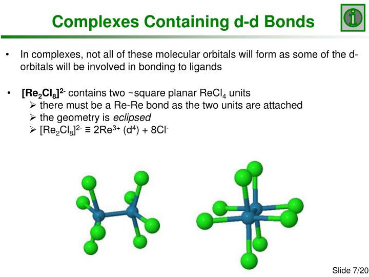 Complexes Containing d-d Bonds