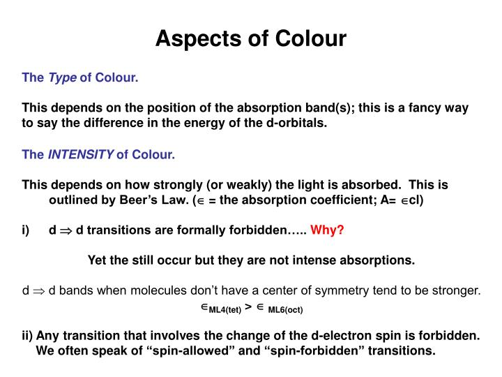 Aspects of Colour