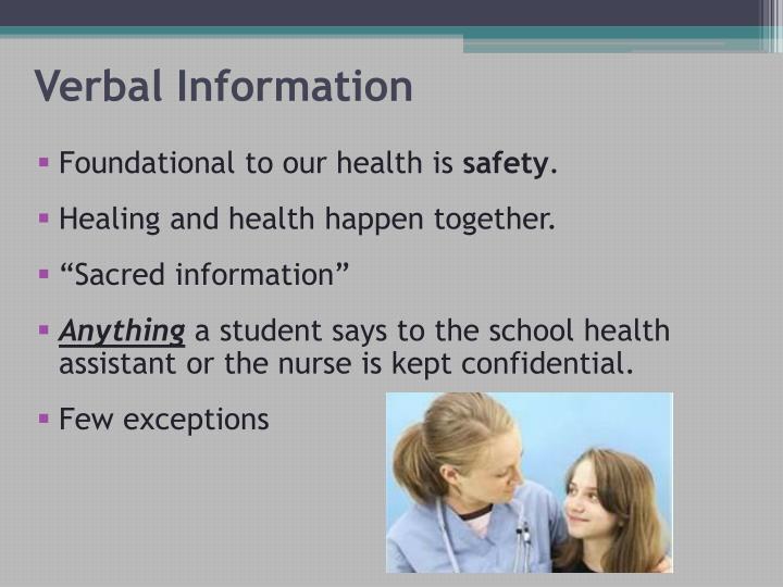Verbal Information