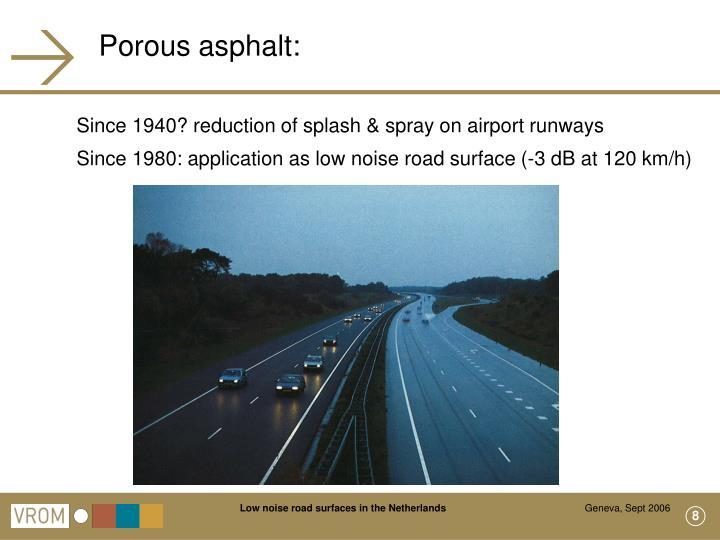 Porous asphalt: