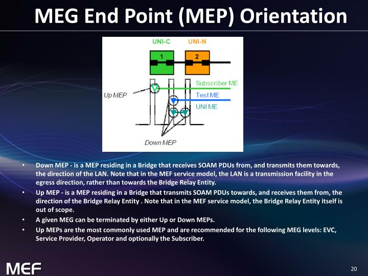 MEG End Point (MEP) Orientation