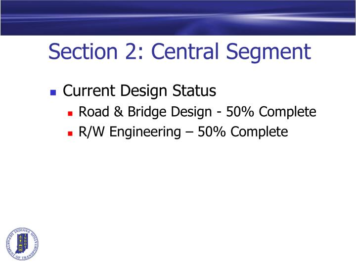 Section 2 central segment