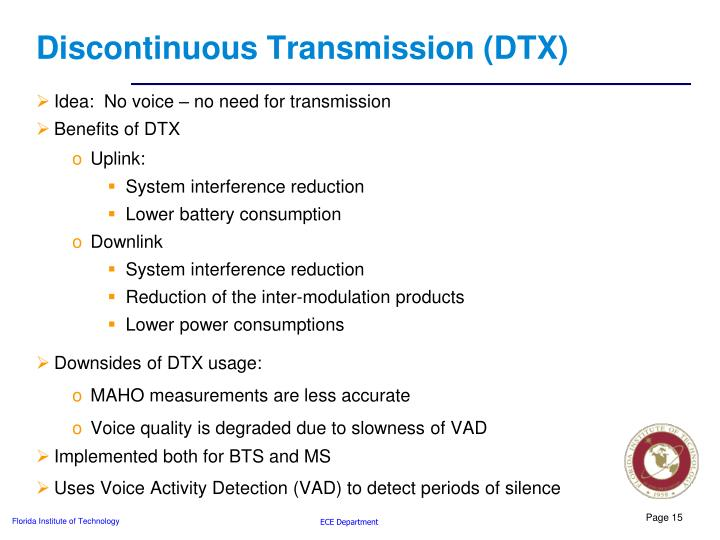 Discontinuous Transmission (DTX)