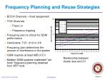 frequency planning and reuse strategies