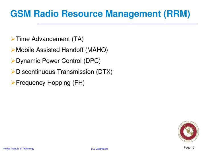 GSM Radio Resource Management (RRM)