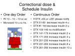 correctional dose schedule insulin1