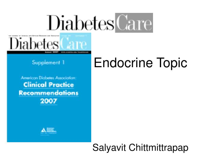 endocrine topic