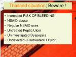 thailand situation beware