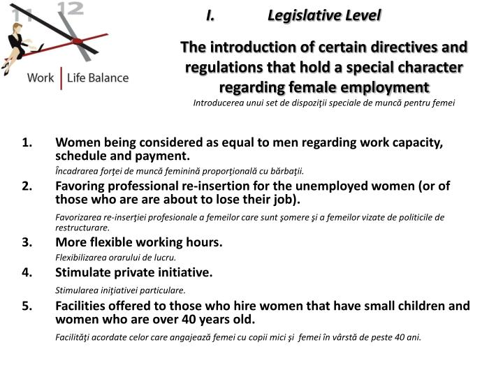 Legislative Level