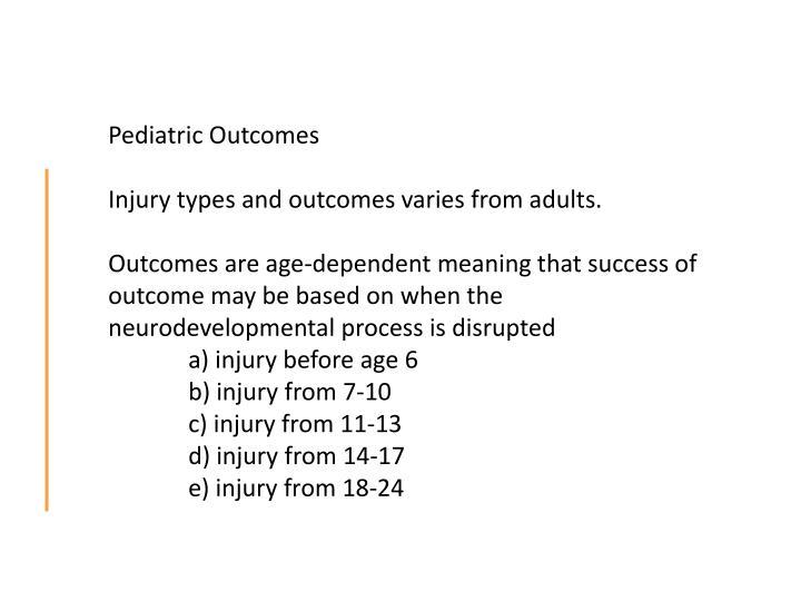 Pediatric Outcomes