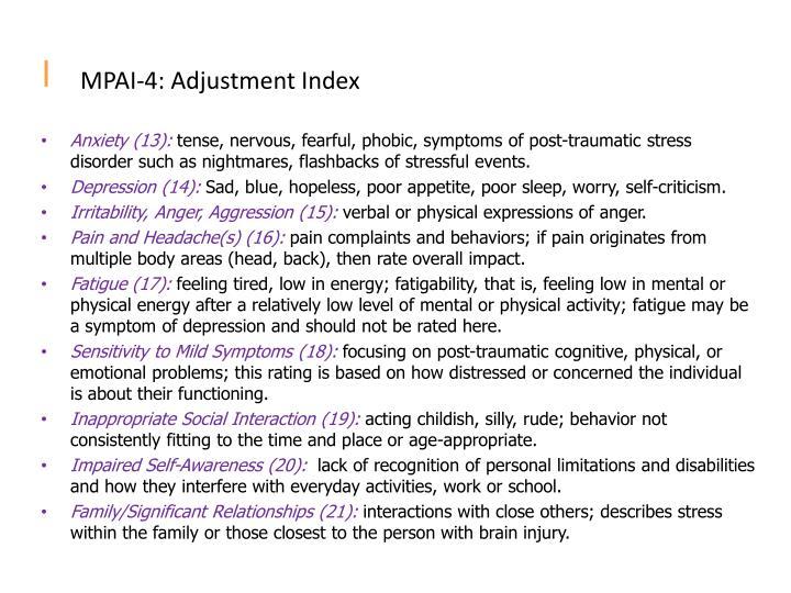 MPAI-4: Adjustment Index