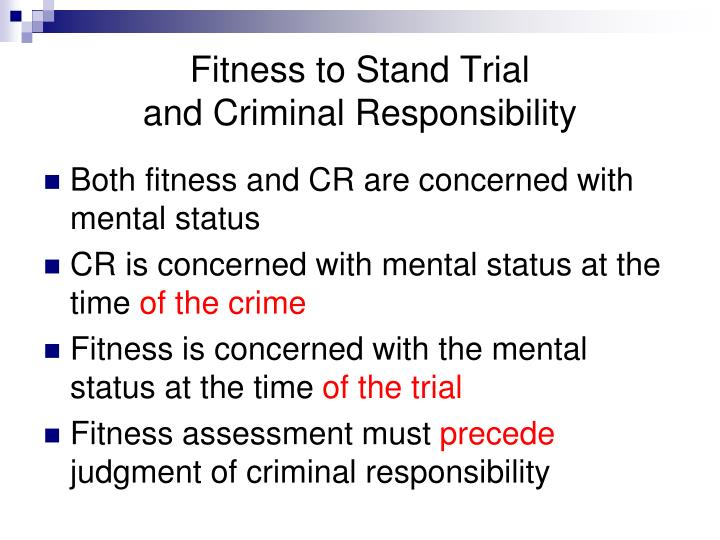 Fitness to Stand Trial