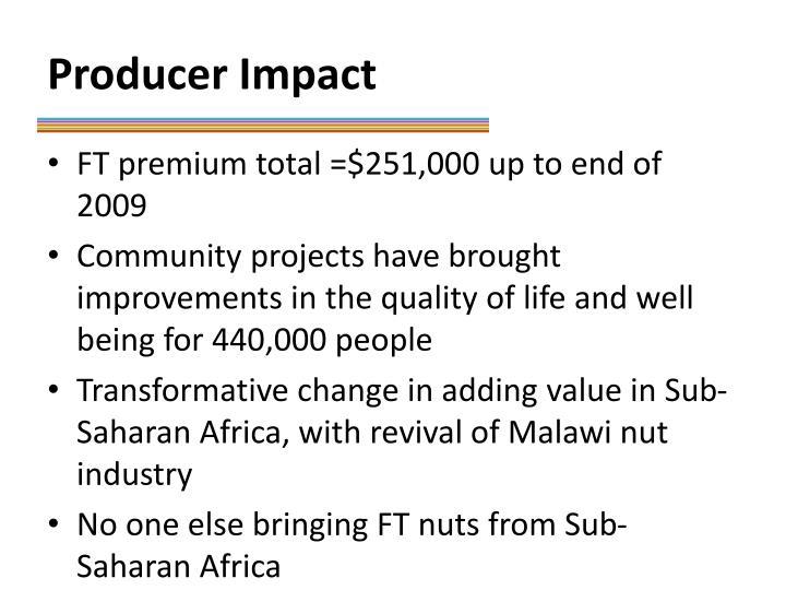 Producer Impact