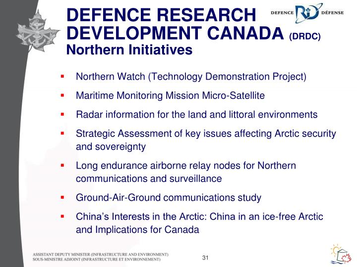 DEFENCE RESEARCH DEVELOPMENT CANADA