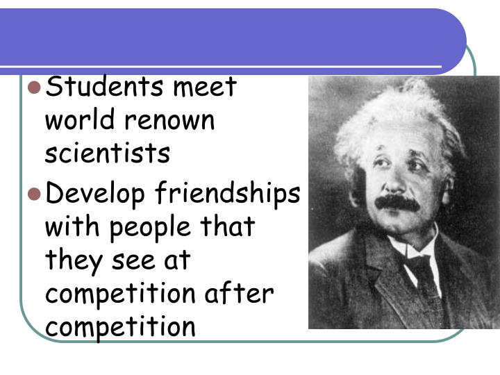Students meet world renown scientists