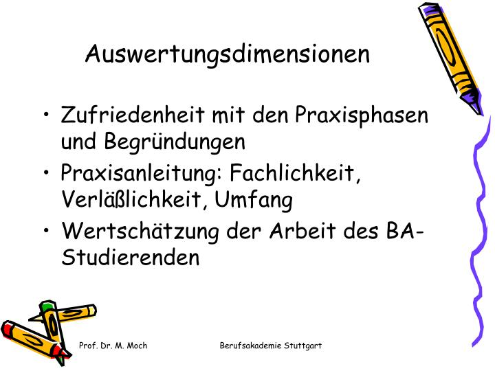 Auswertungsdimensionen