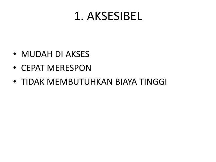 1. AKSESIBEL